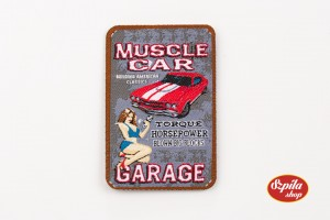 PinUp Girl Muscle Car